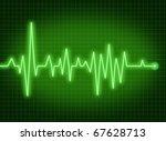 Ecg Ekg Monitor Pulse Rate...