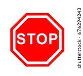 red stop | Shutterstock . vector #676294243