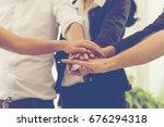 business partners team meeting  ... | Shutterstock . vector #676294318