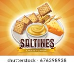 cheese flavor saltines ... | Shutterstock .eps vector #676298938