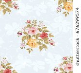 seamless floral pattern with... | Shutterstock .eps vector #676299574