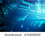 abstract defocus digital... | Shutterstock . vector #676303030