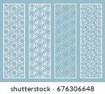 decorative geometric line... | Shutterstock .eps vector #676306648