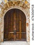 archway wooden doorway leading...   Shutterstock . vector #676306918