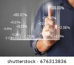investment concept businessman... | Shutterstock . vector #676313836