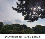 beautiful sunlight through the... | Shutterstock . vector #676315516