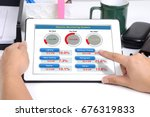 electronic monitoring system... | Shutterstock . vector #676319833