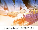 close up hand of medical... | Shutterstock . vector #676321753