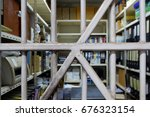 old folder storage room seen...   Shutterstock . vector #676323154