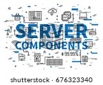 server components vector... | Shutterstock .eps vector #676323340