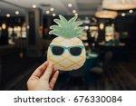 luau 1st birthday party | Shutterstock . vector #676330084