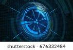 abstract technology concept... | Shutterstock . vector #676332484
