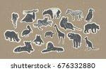 silhouette animals set wildlife ...   Shutterstock .eps vector #676332880