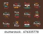 happy friendship day logo set... | Shutterstock .eps vector #676335778
