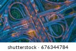 express way  toll way  high way ... | Shutterstock . vector #676344784