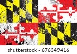 the flag of maryland | Shutterstock . vector #676349416