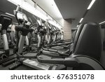 fitness club in luxury hotel... | Shutterstock . vector #676351078