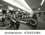 fitness club in luxury hotel... | Shutterstock . vector #676351084