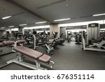 fitness club in luxury hotel...   Shutterstock . vector #676351114