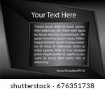 template silver  black and... | Shutterstock .eps vector #676351738