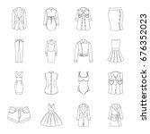 dress  sarafan  coats of women... | Shutterstock .eps vector #676352023