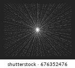 light rays  sunburst  starburst.... | Shutterstock .eps vector #676352476
