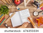 back to school and happy time ... | Shutterstock . vector #676353334