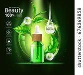 collagen serum and vitamin... | Shutterstock .eps vector #676369858