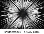 abstract glowing linear light... | Shutterstock . vector #676371388