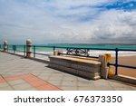 empty santander waterfront...   Shutterstock . vector #676373350