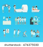 medical doctor and nurse... | Shutterstock .eps vector #676375030