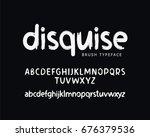 modern vector font on black... | Shutterstock .eps vector #676379536