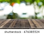 fitted wooden worktop surface.... | Shutterstock . vector #676385524