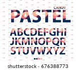 Vector Of Stylized Uppercase...