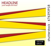 red and yellow line background... | Shutterstock .eps vector #676393918