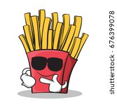 super cool french fries cartoon ... | Shutterstock .eps vector #676399078