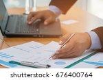 a businessman analyzing... | Shutterstock . vector #676400764