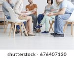 support group meeting for... | Shutterstock . vector #676407130