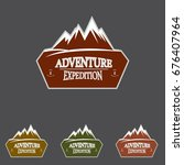 mountain explorer adventure... | Shutterstock .eps vector #676407964