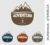 mountain explorer adventure... | Shutterstock .eps vector #676408114