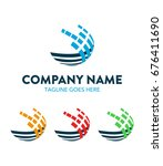abstract technology logo... | Shutterstock .eps vector #676411690
