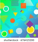 colorful geometric seamless... | Shutterstock .eps vector #676415200