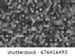 light silver  gray vector... | Shutterstock .eps vector #676416493