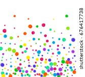 watercolor rainbow colored... | Shutterstock . vector #676417738