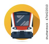 train vector flat icon  modern... | Shutterstock .eps vector #676422010