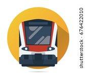 train vector flat icon  modern... | Shutterstock .eps vector #676422010