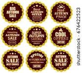 autumn sale banners   Shutterstock . vector #676422523