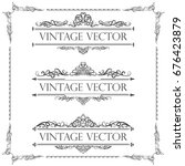 calligraphic vector of vintage... | Shutterstock .eps vector #676423879