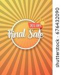 illustration of final sale... | Shutterstock .eps vector #676432090