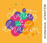 charity and donation. hand... | Shutterstock .eps vector #676447258